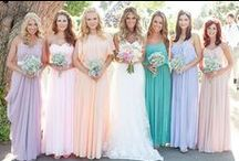 Bridesmaids Dresses / It doesn't have to be all about matching, mix it up and let your bridesmaids' personalities show through!