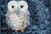 Mosaik - Eulen