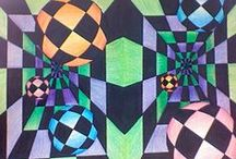 Kuvis: Optinen & pop/ Art lessons optical & pop