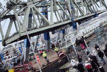 Demontage van de val van de hef ,haven van Rotterdam / Demontage van de val