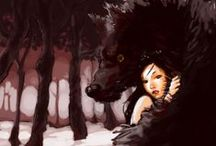 Wolf & Girl Pictures ( inspiration for new tattoo)