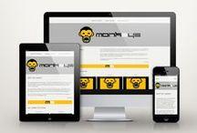 The 3 Monkeys responsive website / The 3 Monkeys responsive website by Lee's Design