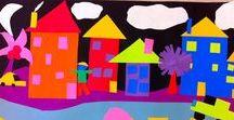 Kuvis: rakennuksia/ Art lesson buildings