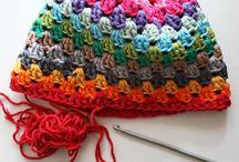 Crochet hat gloves scarves...
