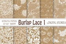 Wedding Lace Scrapbooking Papers