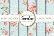 Shabby Chic Scrapbooking Papers / Shabby Chic Scrapbooking Digital Papers