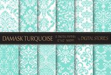 Damask Scrapbooking Papers
