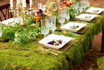 Moss Green Florals and Tablescapes 2 / Creative ways to build floral masterpieces and stunning tablescapes using moss, lichen, herbs, evergreens, fruits, vegetables and plants,,,nature natural organic forest vintage antique salvage european french swedish rustic fairy fairytale woodland outdoors eclectic ethereal magical, greige, boho, bohemian, steampunk, steam punk, modern, antique.  / by Nancy Schmit