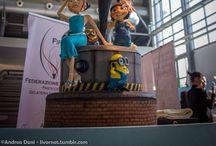 """Cake Design   Cattivissimo Me   Despicable Me / Lo zucchero diventa protagonista per realizzare una torta ispirata  al famoso Cartoon della Dreamworks """"Cattivissimo Me""""  """"Sugar"""" becomes the protagonist to make a cake inspired by the famous Cartoon Dreamworks """"Despicable Me"""""""