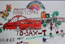 my 5 years old son's cars (imagination, kids art) / cars drawn by a 5 year old boy