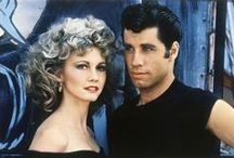 """Grease"" en 1978 / John Travolta et Olivia Newton-John"