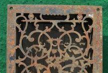 Antique Decorative Heat Registers / Antique Decorative Cast Iron Heat Registers