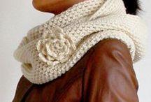 Crochet scarves cowls / by Lori Neff
