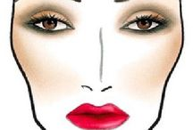 Face Charts and How-Tos / Inspirational face charts and how-to photos I like.