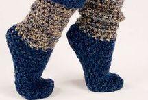 crochet slippers / by Lori Neff