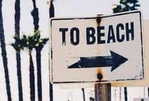 A Summer at the Beach / Summer: Hair gets lighter, skin gets darker, water gets warmer, drinks get colder, music gets louder, nights get longer, life gets better in the Summer Time at the Beach
