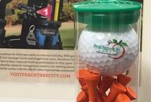Take Peachtree City Home! / T-shirts, umbrellas, mugs, and more are wonderful souvenirs of a visit to Peachtree City! All carry the official PTC logo and are available at the Peachtree City Visitors Center and at City Hall.
