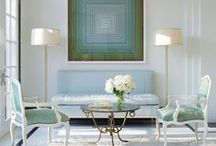 interiors / simple design that highlights the art & the beautiful detail.