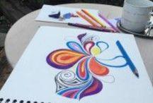 Mandaly / Mé Mandaly. Má terapie. Malování Mandal je můj odpočinek.