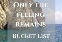 Bucket list / Let's inspire each other to build a crazy travel bucket list, then go and explore wonderful destinations around the World https://thefeelingremains.com/destinationsandmore/