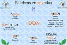 Palabras Enraizadas en Hebreo moderno - Ronda nº 1 / El hebreo es un idioma en el que las raíces verbales tiene un papel principal: sirven de potente enlace entre verbos, adjetivos, sustantivos, términos compuestos y más. Enriquece tu vocabulario con nuestras Palabras Enraizadas.  www.clasesdehebreo.com