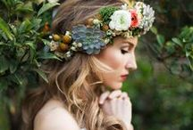 Flowers In Her Hair / Channel your inner bohemian goddess with a crown of fresh flowers