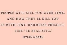 Words from wiser beings