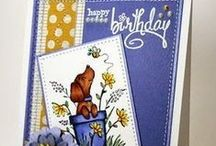 Great Impressions: Birthdays / Creations made using Great Impressions Rubber Stamps with a birthday theme!