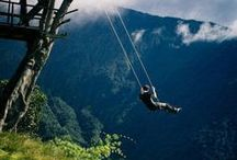 Tree swings and houses / That feeling of freedom and adventure always comes back to me when I find a rope swing.