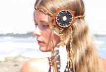MARYSAL ACCESSORIES ❤ / Handcrafted bohemian jewelry like feather earrings, hairclips, and necklaces.