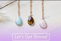 Stone and Natural Jewelry / Spread the good vibes. Our Let's Get Stoned Collection is curated of our must-haves in earthy tones and natural stone jewelry.