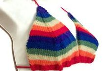 Rainbow Pride / Hand knitted items in fabulous rainbow colours
