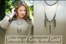 Shades of Grey and Gold / This sexy collection is the perfect match for the Pantone color of the year, rose quartz.