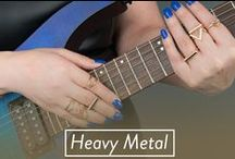Heavy Metal / It's all pedal to the metal with our collection of heavy metal jewelry. From statement necklaces to ear cuffs and layered rings to all things bling. Each style is sure to hit all right notes.