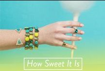 Sweeten Up Your Style / Sugar, yes please! The latest in bold brights and feminine pastel jewelry.