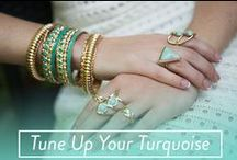 Tune Up Your Turquoise / Whether your favor the boho babe style or prefer something with sparkle 7 Charming Sister features turquoise colored jewelry to complement any style.
