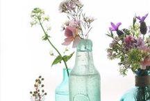 Wedding Styling | Vintage Glasses, Bottles and Jam Jar Posies