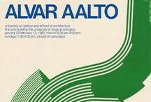Aalto posters   Aalto-julisteita / Selection of posters from Alvar Aalto Museum collections.  Valikoima julisteita Alvar Aalto -museon kokoelmista.