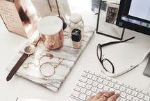 workspace + desk. // / Desk and workspace inspiration