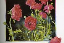 Paintings of Poppies / Poppies are big strong bold flowers. I love art that captures the strength of these stunning flowers.