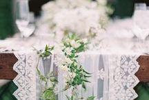 Wedding Ideas | Table Runner Decor