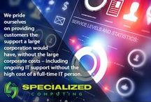 """Specialized Computing / Specialized Computing Innovations is a Seattle-based full service IT company offering computer consulting and networking solutions to individuals and small businesses. We have been around for over 15 years, serving small businesses and growing with technology.  We help organizations design and implement their IT plans by combining our business and technology expertise to deploy robust solutions that meet the critical """"return on investment"""" goals of our customers."""