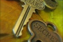 Lock & Key / I love the mystery of these vintage or antique keys... Are they keys to a secret garden, a journal full of cherished hopes and dreams, a treasure chest, a magical wardrobe? Keys to the kingdom? Keys to your heart? Oh the possibilities!