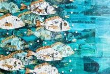 Paintings of Fish / Colourful fish are an attractive subject for artwork. I look for pattern, design, composition and something interesting in the style of the work.