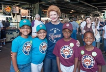 """Smile Day 2012 / On Friday, August 17, Delta Dental hosted """"Smile Day"""" at Comerica Park for 750 children and parents, in addition to thousands of Detroit Tigers fans, and introduced its Brighter Futures initiative centering on kids, health and literacy.  As part of its launch, the company donated tickets to the game to four charities including the Detroit Area Pre-College Engineering Program, Think Detroit PAL, Avancemos! Educational Services, and Western Wayne Family Health Center. / by Delta Dental of Michigan"""