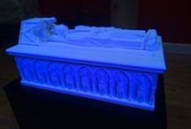 The Lost Tomb of Robert the Bruce / Celebration marking the opening of the exhibition which exhibits a reconstruction of the Lost Tomb of King Robert the Bruce of Scotland. The Tomb was destroyed during the Reformation of the Churches in the 15th century and only a few marble pieces remain. From this, a digital reconstruction was undertaken in 2014 and now using the latest 3d printing technology, a physical version is currently on show in the Stirling Smith Art Gallery and Museum