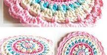 Mandalas / Cute and colourful crochet mandala designs