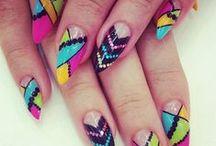 Gel,acryl nails