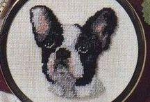 haft krzyżykowy - zwierzęta