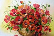 haft krzyżykowy - rośliny-kwiaty